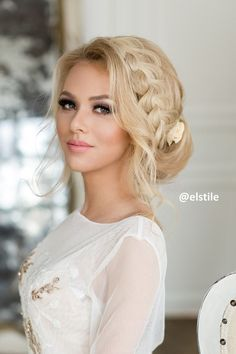 Best Ideas For Wedding Hairstyles : Featured Hairstyle:Elstile; Unique Wedding Hairstyles, Bride Hairstyles, Easy Hairstyles, Hairstyle Ideas, Country Hairstyles, Elegant Wedding Hair, Wedding Hair And Makeup, Trendy Wedding, Bridal Makeup For Blondes