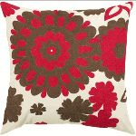 $116.00  Rizzy Home - Red and Brown Decorative Accent Pillows (Set of 2) - T3511B