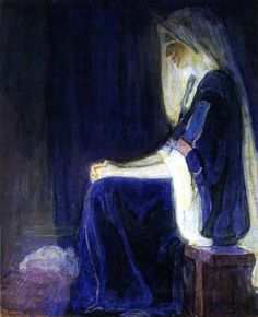 mystery... Mary ... in peaceful expectation of Nativity joy | by Henry Ossawa Tanner more here http://www.pinterest.com/meshero/henry-o-tanner/