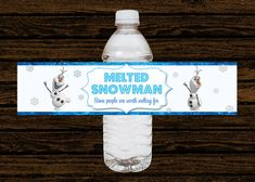 Custom Disney Frozen Party Water Bottle Labels Wraps - Digital File
