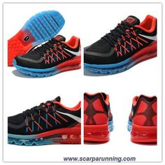 brand new e11dd 2d9e6 borse online Uomo 477398-016 Nike Air Max 2015 Nero Rosso Blu scarpe su  internet