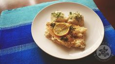 Lemon and Strawberries: Sole fillets on celery salad and cauliflower puree...