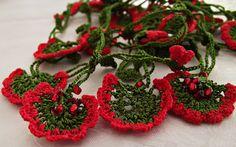 Handmade Vermillion Crochet Necklace. $18.99, via Etsy.