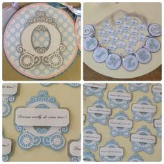 Name banner & bag tags for Cinderella party