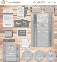 O kit digital para casamentos é perfeito para realizar a festa dos seus sonhos! Todos os itens irão personalizados com os nomes dos noivos e informações da festa.