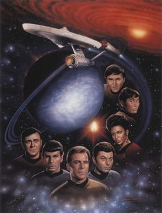 Beautiful artwork of the TOS crew and their voyages.