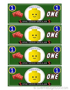 Link for printable lego money. Consider a lego themed classroom. hmm