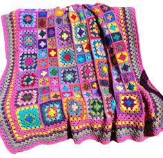Crocheted afghan crochet blanket handmade crochet by JansAfghans