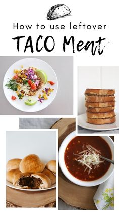 Explore this post to see 5 delicious ways to use up that leftover taco meat after Taco Tuesday. All of the recipes are kid and adult friendly and come together in minutes. Homemade Tacos, Homemade Taco Seasoning, Leftover Taco Meat, Biscuits Packaging, Mexican Cheese, Taco Dip, Canned Tomato Sauce, Slice Of Bread, Refried Beans