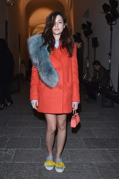 Eleonora Carisi Front Row Milan Menswear Fashion Week Fall 2015