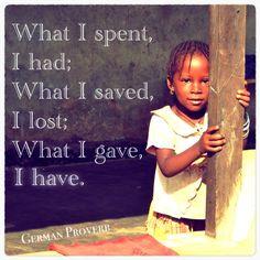 giving is having | My Life Aquatic
