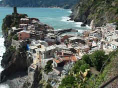 Looking down on the town of Vernazaa - Cinque Terra