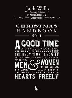 A good time, a kind forgiving charitable pleasant time - #JackWills Christmas Handbook 2011
