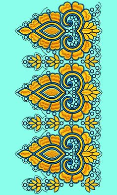Textile Patterns, Embroidery Patterns, Textiles, Hand Embroidery Flowers, Saree Border, Art Deco Pattern, Creative, Hot, Collection
