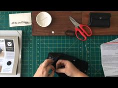 Sew Along with the Pouchette DIY leather craft kit from Hammered Leatherworks
