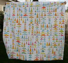 geese in the forest - would be great to use with my Christmas fabric for a wall hanging