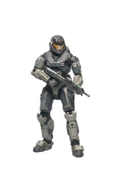 """McFarlane Toys Halo Reach Series 1 Noble Six Action Figure by McFarlane Toys. $22.88. Noble Six is the players character. Figures has approximately 20 points of articulation. Figure stands approximately 5"""" tall. Noble Six is an NEW character. Figure comes with Assault Rifle. From the Manufacturer                McFarlane Toys is proud to present our first line of action figures and vehicles from the upcoming blockbuster video game Halo: Reach.                         ..."""