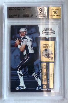 Tom Brady 2000 Playoff Contenders Rookie Card RC BGS Graded 9 MINT with 10 Auto!