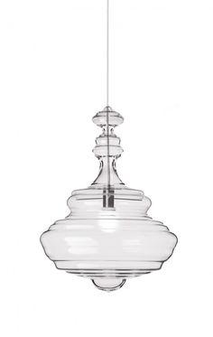 transparent glass pendant lamp. LOVE!