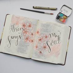 Beautiful spring Bible journaling watercolor idea! #biblejournalingcommunity
