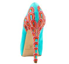 Brian Atwood Turquoise Embroidered Heels- Only $2,114. Somebody feel free to buy me these.