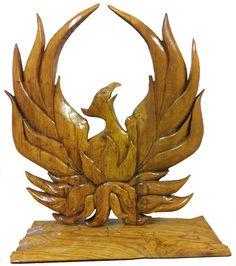 Phoenix Rising from Starry Plough -Celebrating 1916 Rising. Beech on Oak www. Phoenix Rising, Bookends, Sculpture, Home Decor, Decoration Home, Phoenix, Room Decor, Sculptures, Sculpting