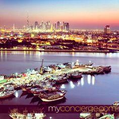 Dubai's skyline at night shows a true symphony of colours #mydubai #dubaicreek #dubaiskyline #city #emirates #dubai #myconcierge