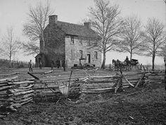 Matthews house at Bull Run, used as hospital during battle.