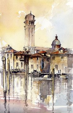 Tony Belobrajdic WATERCOLOR Venice