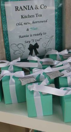 Tiffany Bridal Shower Party!  See more party ideas at CatchMyParty.com!