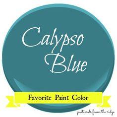 Postcards from the Ridge: Favorite Paint Color ~ Benjamin Moore Calypso Blue #benjaminmoore #calypsoblue #paintcolor