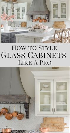 Over time, I learned some simple tricks that made my cabinets not only function well, but look great. Today I wanted to share with you a few easy tips for styling glass kitchen cabinets to achieve the look you want.