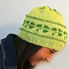 St. Patty's Beanie Knitting Loom ~*~ Free Pattern