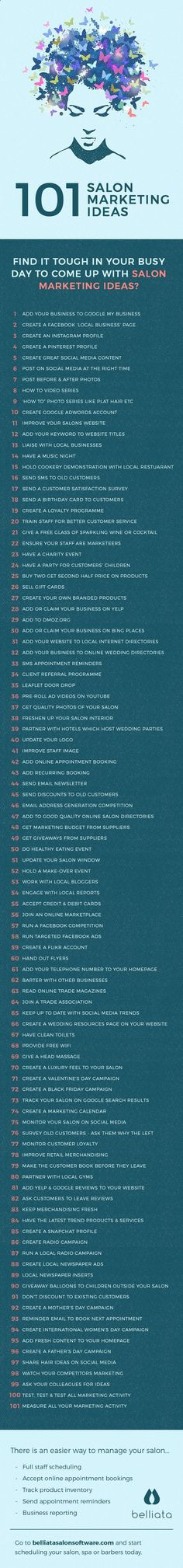 Sometimes finding marketing inspiration for your salon can be tricky. But Paul from Belliata Salon Software has put together some great and effective salon marketing ideas for you to easily do in your salon and keep those customers coming amzn.to/2saZO4H