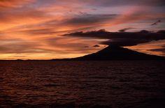 nicaragua   Bello atardecer en el gran lago de Nicaragua