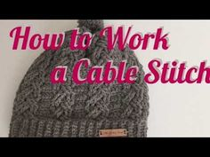 How to work a cable crochet stitch - YouTube