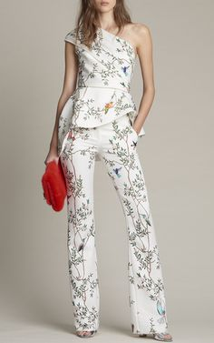 802ae30e87fb Floral Print Top and Pants by Monique Lhuillier Dressy Jumpsuit Wedding