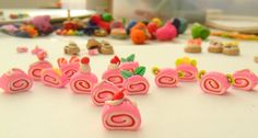 Swirl Roll/Cinnamon Bun Polymer Clay Charms/Doll by shannonmojica, $4.00