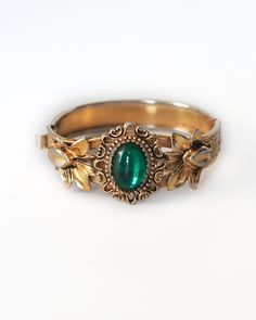(KO) Gold and Emerald ring. Sometimes you want big, bold and in their faces! Other times you want demure and ladylike.  It all depends on your mood.