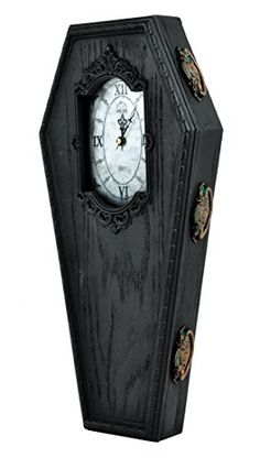 Black Victorian Gothic Coffin Wall Clock Halloween Home Decor Dysfunctional Doll http://www.amazon.com/dp/B00NS0JB6I/ref=cm_sw_r_pi_dp_5zyVub13T1ADG