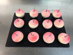 Pêche Melba revisitée Tea Lights, Candles, Tea Light Candles, Candy, Candle Sticks, Candle