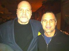 Mark e Vincent D'Onofrio na estreia de peça Clive - fevereiro 2013.