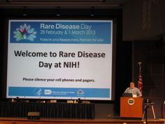 NIH/FDA Rare Disease Day - Bethesda MD Feb 28, 2013