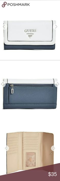 Guess white and blue wallet White and Blue Guess Bags Wallets