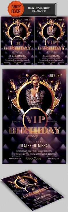 Birthday Flyer Psd templates, Flyer template and Party flyer - birthday flyer template