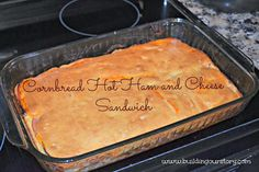 Cornbread Hot Ham and Cheese Sandwich