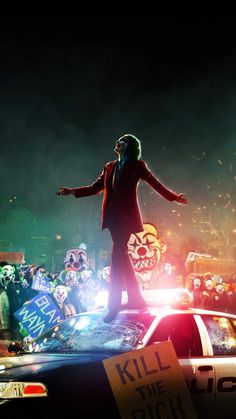 Joker with Clowns iPhone Wallpaper