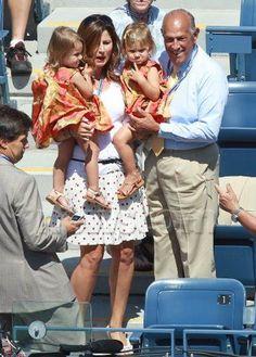 Roger Federer's family was spotted in the crowd along side Oscar de la Renta. The girls are wearing - what else? - Oscar de la Renta!