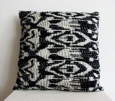 Ikat Pillow in Black by gypsya on Etsy, $22.00
