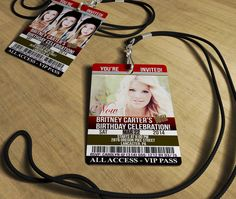 """18TH Birthday Invitation - """"Now and Then"""" VIP Invites Actual PVC Cards with Lanyards (Click Quantity Below for Additional Pricing) on Etsy, $41.25"""